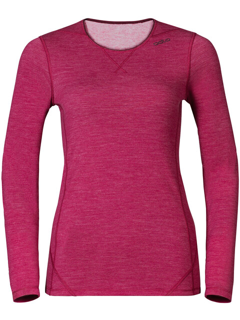 Odlo Revolution TW Warm Shirt L/S Crew Neck Women Sangria Melange